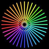 Coloured pencils arranged in a circle. — Stock Vector