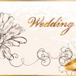 Vintage wedding card. - Stockvectorbeeld