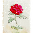 Vintage red rose - Stock Vector
