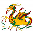 Funny Chinese dragon is symbol of calendar 2012 — Stock Vector