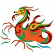 Funny Chinese dragon is symbol of calendar 2012 — Stock Vector #6697168