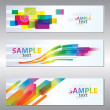 Set of header design - Stok Vektör