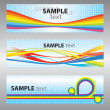 Stock vektor: Set of abstract vector backgrounds