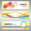 Set of abstract vector backgrounds — Stock vektor