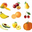 Set of fruits and vegetables — Stock Vector #6345511