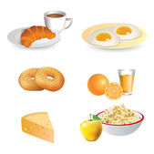 Breakfast icon set — Stock Vector