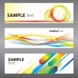 Set of abstract vector backgrounds - Stock vektor
