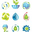 Set of nature design elements — Stock Vector #6511248