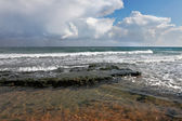 Düz akdeniz kıyılarında — Stok fotoğraf