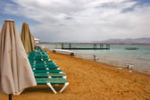 死海の上に曇り空 — Stockfoto