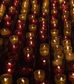 Candele in memoria circa morto — Foto Stock