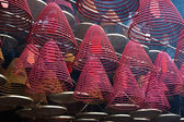 Red incense burners — Stock Photo