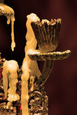 Burnt candle — 图库照片