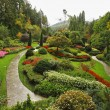 Butchard - garden on island Vancouver in Canada — Stock Photo