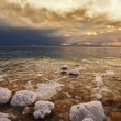 The spring thunder-storm on the Dead Sea - Stock fotografie