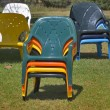 Armchairs are prepared for tourists - Foto Stock