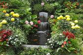 Magnificent cascade fountain — Stock Photo