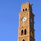 Wieża zegarowa w akko stary — Zdjęcie stockowe