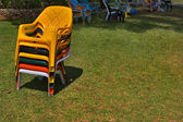 Convenient chairs for a beach — Стоковое фото