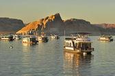 Lake in Red desert — Stock Photo