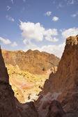 Amram de colonnes dans le désert de pierres près de la mer rouge — Photo