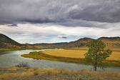 The river Missouri in October. — Stock Photo