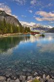 Kotvení na jezeře. — Stock fotografie