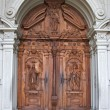 Doors of a temple. - Stock Photo