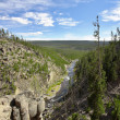 Canyon of river Gibbon — Stock Photo