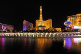 The night in Las Vegas. Dancing Fountains — Stock Photo