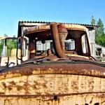Old soviet tractor — Stock Photo