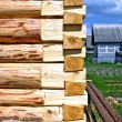 Royalty-Free Stock Photo: Construction of the wooden building
