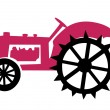 Royalty-Free Stock Vector Image: Old tractor