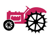 Old tractor — Stock Vector