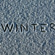 Snow with inscription — Stock Photo