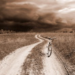 Royalty-Free Stock Photo: Bicycle on rural road