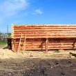 Construction of the new wooden building — Stock Photo #6743564