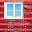 Wall with window. — Stock Photo