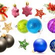 Stock Photo: Christmas decorations set.