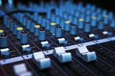 Mesa de mixagem de música — Foto Stock