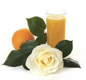 Orange juice for breakfast. — Stock Photo