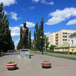 Stock Photo: Monument to Dostoevsky. Omsk.