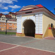 Tobolsk gate. Renovated old building. Omsk. — Stock Photo