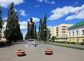 Monument to Dostoevsky. Omsk. — Stock Photo