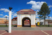 Tobolsk gate. Renovated old building. — Stock Photo