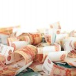 Background of Russian banknotes — Stock Photo #6309439