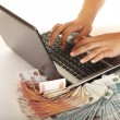 Stock Photo: Earn money using your computer