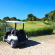 Buggy in Sueno Golf Club. — Stock Photo