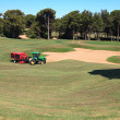 Foto de Stock  : Technique for care of golf course.