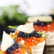 Stock Photo: Snacks with salmon roe